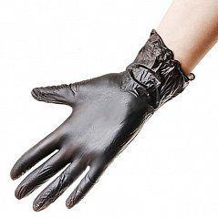 Перчатки Виниловые ЧЕРНЫЕ размер M 100 ШТ.